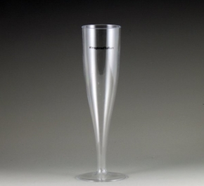 plastic champagne glass