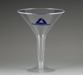 plastic martini glass