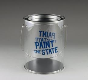 plastic paintcan glass