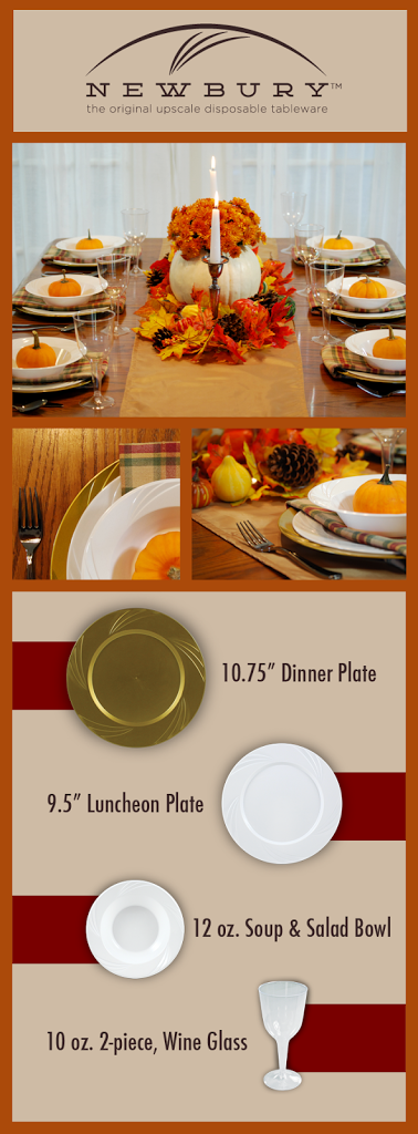 Celebrate in style, with disposable dinnerware