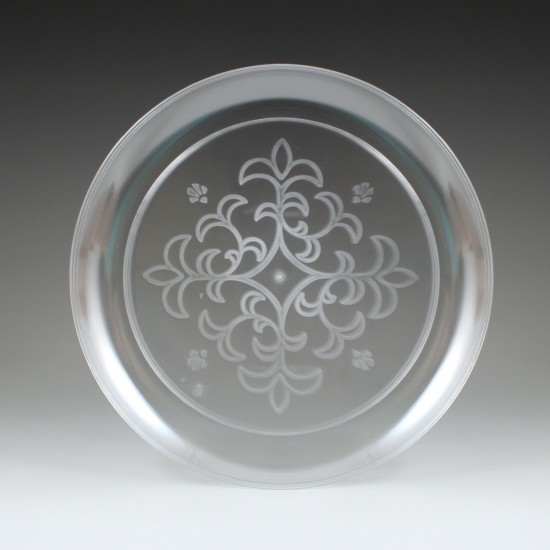 "6.25"" Sovereign Etched Plate, (35 Ct.)"