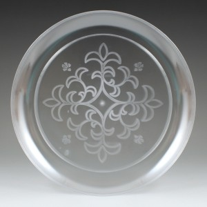 "9"" Sovereign Etched Plate, (25 Ct.)"
