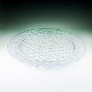 "16"" Crystalware Crystal Cut Round Tray Display"