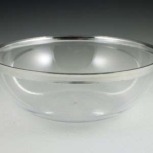 "10.5"" Regal Silver Edge Bowl"