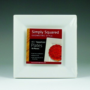 Simply Squared Plates & Drinkware Display