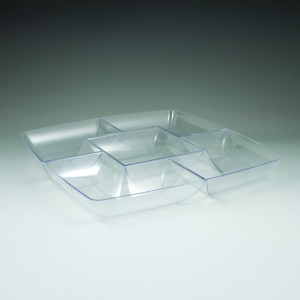 "12"" Simply Squared Chip & Dip Tray"