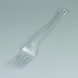 50 ct Tiny Tasters Mini Fork/Spoon Combo, Clear Clip Strip