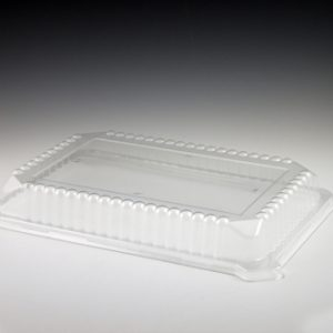 10\u2033 x 14\u2033 Sovereign Rectangular Tray Lid & Serving Platters | Disposable party \u0026 catering plasticware