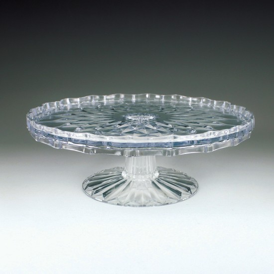 "Crystalware Crystal Cut 10"" Tiered Cake Plate"