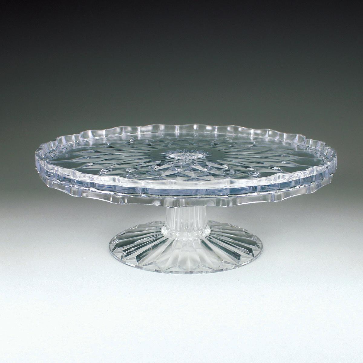 Crystalware Crystal Cut 10  Tiered Cake Plate & Crystalware Crystal Cut 10