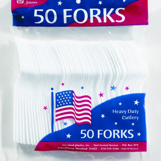 Kingsmen PS Poly Bagged (50 Ct.) - Forks