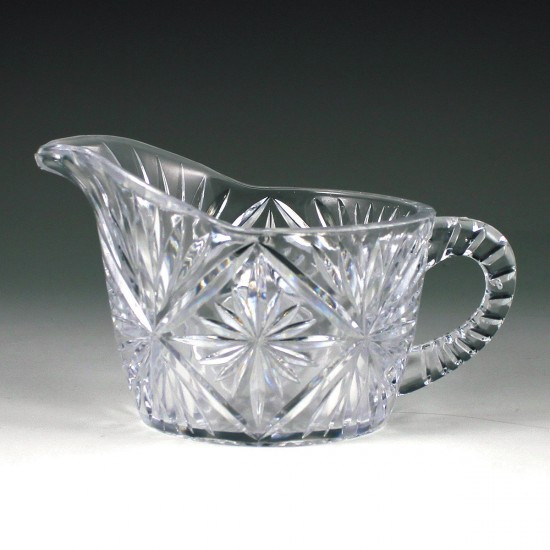 Crystalware Crystal Cut Cream Pitcher
