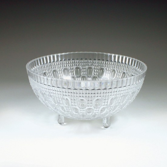 1 qt. Crystalware Crystal Cut Footed Bowl