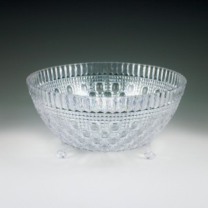2 qt. Crystalware Crystal Cut Footed Bowl
