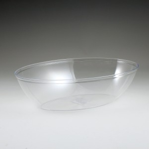 "12"" Crystalware Oval Salad Bowl"