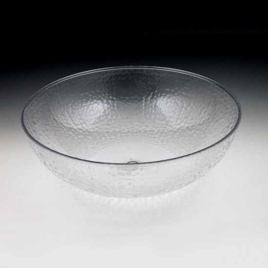"15"" Crystalware Hammered Bowl"