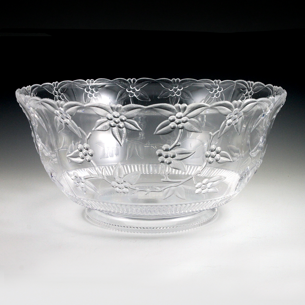 12 Qt Crystalware Large Punch Bowl Plastic Cups