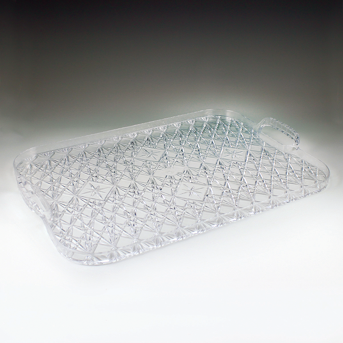 13 Quot X 19 Quot Crystalware Crystal Cut Rectangular Tray W