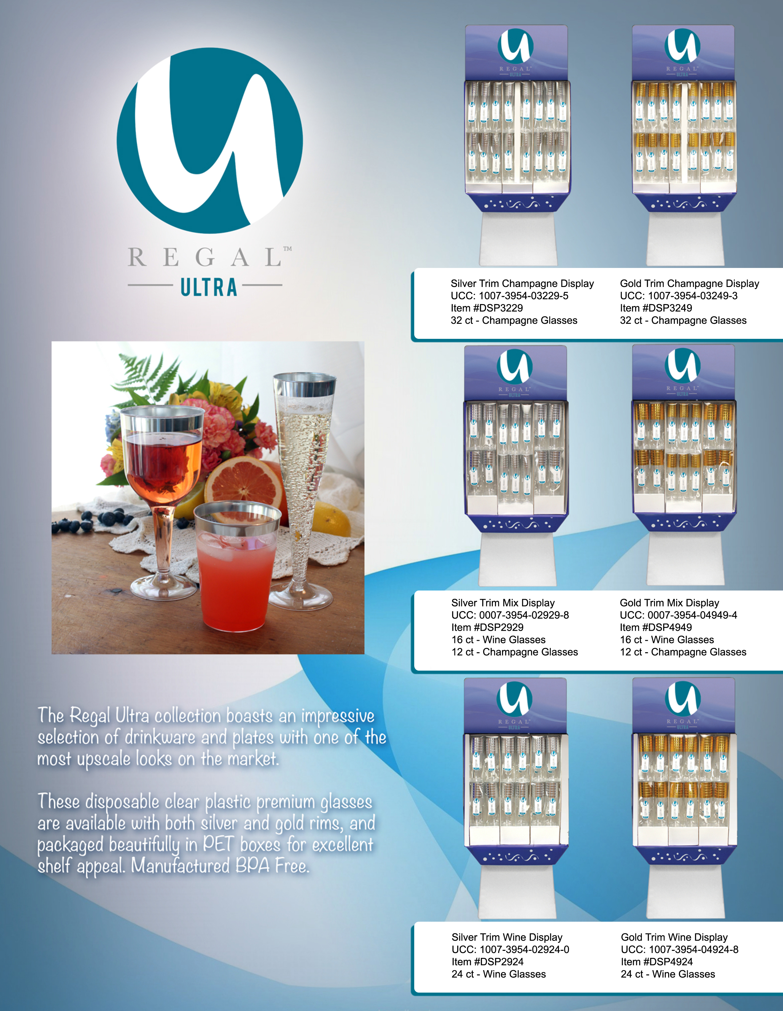 Regal Ultra Drinkware Display Sheet