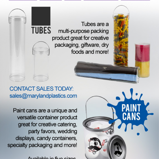 Paint Cans & Tubes from Maryland Plastics