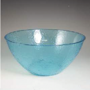 IN07202 Blue cut glass bowl